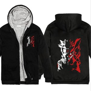 New Anime Naruto personality creative thick warm zipper Sweatshirts hoodies men and women