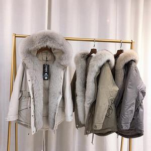 Janveny Büyük Natürel Kapşonlu Aşağı Coat Kış Kadın% 90 Beyaz Aşağı Ceket Kadın Tüy Giyim Oversize Parkas Ördek