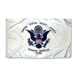US-Küsten-Guard-Flagge Nizza NCAA-Flagge 3x5ft doppelt genäht Dekoration Sport Banner 90x150cm Freies Verschiffen