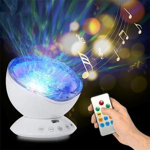 Chaud Ocean Wave Projecteur Lumière LED Night Lamp Musique Player Contrôle à distance USB PROJECTION STARRY STARRY SALLACE CHAMBRE DE LA PORTE