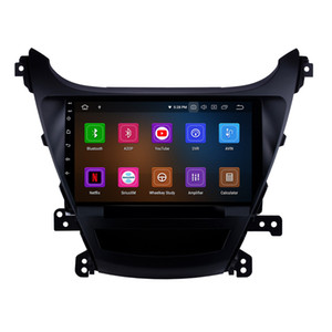 Radio de automóvil GPS de 9 pulgadas Android 10 Touchscreen GPS para 2014-2015 Hyundai Elantra con control de dirección de soporte AUX 3G