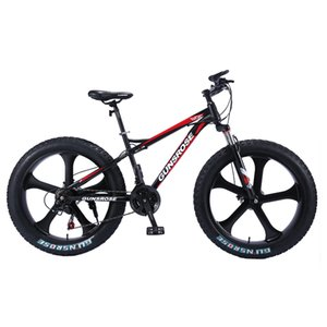 26 inch mountain bike 4.0 fat tire mountain bicycle double disc brake bike high carbon steel 7 21 24 24 speed bike