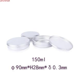 150ml 30pcs lot Cream Sample Jar Refillable Packaging Box Candle Jars For Cosmetics High Capacity Travel Accessories Empty Metalhigh quatity