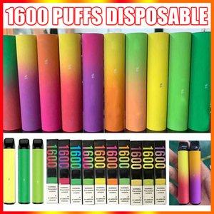Neueste 1600 Puff Einweg Vape Pen Gerät mit Sicherheitscodes 6.5ml 1000mAh Pre-Filled Leere Puff Dämpfe VS Bang XXL Ali Bar