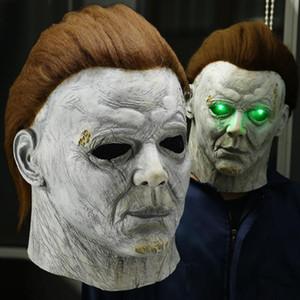 Horror Michael Myers LED Halloween Kills Mask Cosplay Scary Killer Full Face Latex Helmet Halloween Party Costume Props New 2020