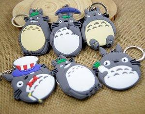 Cat Keychain Anime Cartoon Totoro Harajuku Cute Soft Key Chain Ring Cover Holder Pendant Boys Girls Chaveiro Llavero Porte Clef