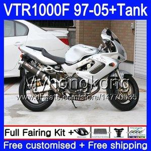 Körper + Tank für Honda Superhawk VTR1000F 97 98 02 03 04 05 56HM.103 VTR1000 F VTR 1000 F 1000F 1997 2002 2003 2004 2005 Alle Silvery Fairing