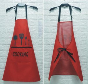 Environment friendly PVC Kitchen Bib Waterproof Oil Proof Adjustable Cooking Pocket Fashion And Creative Apron For Men And Women Kitchen Bib