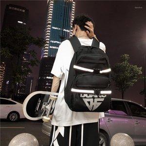 Backpack Multifunction Bakcpack Street Style Cool Reflective Skateboard Student Bag Casual Large Capacity Travel For Men1
