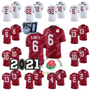 Alabama Crimson Tide 2021 National Champions Jersey Devonta Smith M.Jones Tua THAYVAILOA QUINNEN WILLIAMS NAJEE Harris Jalen tut jeudy