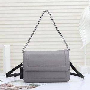 Two Grey Belt Fashion Women Bag High Quality Bag Shoulder Handbags Cross-Body Flap Women Shoulder Leather Chains Bag Juan551806 Defsj