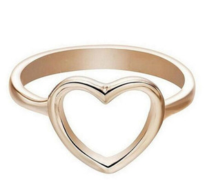 Dainty Women Ring Hollow Heart Ring For Couple Wedding Promise Infinity Eternity Love Jewelry Boho Anillos Mujer BFF Gifts Free Shipping