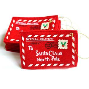 Titulaires de cartes-cadeaux de Noël Cadeau rouge Boîte à bonbons avec enveloppes Porte-cartes de Noël WQ560