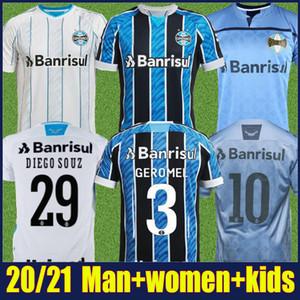 2020 2021 Gremio Fútbol Jersey Man Women Kit Kit Kannemann Geromel Fútbol Jersey Everton Pepe Camisa de Fútbol Camisa Gremio Feminino 20/21