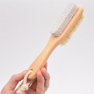 قدم فرك فرشاة التقشير فرك مجلس الوجه المزدوج دائم الشعر الخشن الخشب ستون فرش نظيف دائم G2 3 6sm
