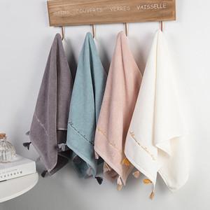 Soft Cotton Bath Towels Large Absorbent Bath Beach Face Cotton Tassels Towel Home Bathroom Hotel For Adults Kids 35*76cm