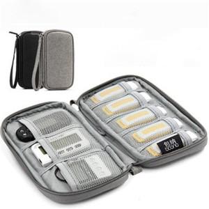 Protable Mini USB Flash Drive Borsa U Shield Cassa protettiva Timer Power Bank Borsa Digital Cavo Cavo di alimentazione Cavo di alimentazione Organizer