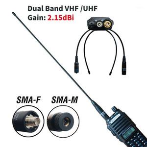 2PCS Original Baofeng Antenna Dual Band Walkie Talkie Antenna SMA-F SMA-M VHF UHF 144-430MHz For UV-5R UV-82 BF-888S NA-7711