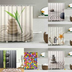 Desert Stone Shower Curtains 3d Printing For Bathroom Hd Waterproof Curtains Fabric Polyester Bath Screen Home Decoration