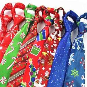 JEMYGINS 2020 Nuevo Diseño Lazo de la Navidad 9.5cm del lazo para el Festival de regalo del árbol para hombre Impreso Hombres muñeco de nieve corbata Animal para la Navidad