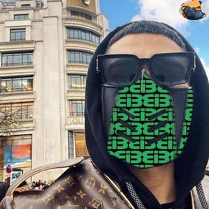 Maschera 24styles di promozione di vendite del cotone di inverno Bocca copertura del fronte mezzo cuoio del progettista L V Leather Mask Designer Louis Vuitton donne del partito Man