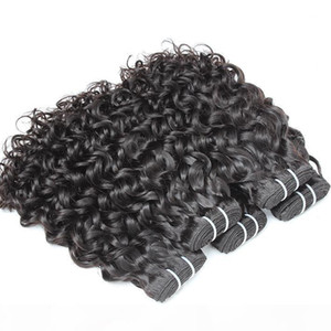 4pcs lot 100% Brazilian Virgin Human Hair Bundles Weave Water Wave Dyeable Hair Extension Big Curl Human Hair Weft Greatremy