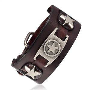 Mkendn Handmade Ride To Live Male Star Retro Bracelet Homme Genuine Leather Men Women Rock Jewelry Friendship Gifts sqcIuy hjfeeling