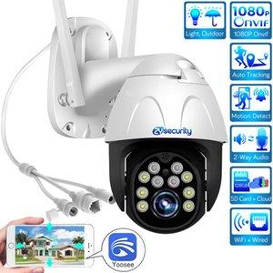 1080P Wireless IP Camera Outdoor Speed Dome camera Auto Tracking Cloud CCTV Security Video Surveillance WiFi PTZ Camera Yoosee