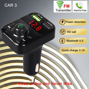 Cheap CAR3 Multifunction Bluetooth car kit Transmitter 3.1A 1A Dual USB Car charger FM MP3 Player Support TF Card Handsfree