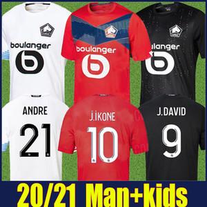 2020 Losc Lille Jersey Man Kids Kit Bamba J.David J.ikone Football Jersey Yazici Soumare Celik R.Sanches Soccer Jersey Mailleot de Lille 2021