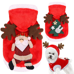 Christmas Dog Pet Supplies Clothes XS-2XL Lovely Pet Cotton Clothes Ornaments Elk Funny Autumn Winter Clothes Cute Coat VT2086
