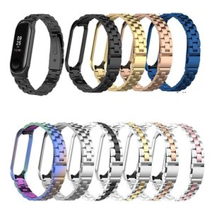 Stainless steel wrist strap for xiaomi mi band 3 4 general metal watch band smart bracelet miband 3 belt replaceable watch straps