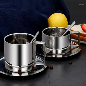 304 Stainless Steel Coffee Cup European Style Mug Portable Double Wall Travel Tumbler Mug Cup Free shipping 200 280ml1