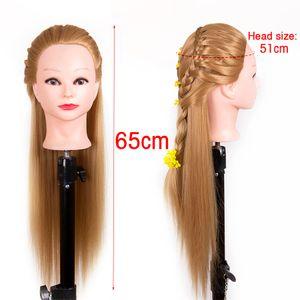 Maquillaje Alileader vendedora caliente del entrenamiento Pista del maniquí Peluca Práctica Jefe Jefes de peluquería Maniquí de entrenamiento de práctica muñecas de pelo
