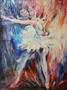 Leonid Afremov Pas de deux II Home Decor Handpainted &HD Print Oil Painting On Canvas Wall Art Canvas Pictures For Living Room 201007