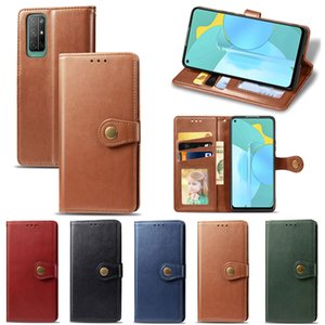 Business Style Phone Case for Huawei Honor 30S with Wallet Card Slot Magnetic Flip Buckle Business Style PU Leather (Model:HONOR30S)