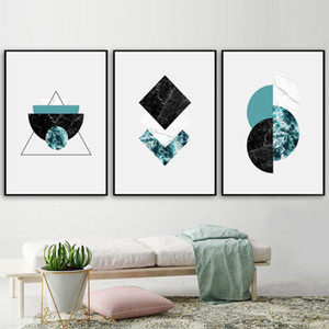 Marble Geometric Wall Art Canvas Painting Nordic Posters And Prints Art Canvas Prints Wall Pictures For Living Room Decor