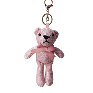 New Small Bear Lace Keychain Small Bear Doll Han Version Of Cloth Art Joint Bag Bag Hanging Decoration Cute Doll