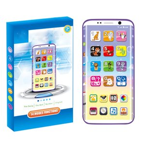 Kids Smart Phone Vocal Toys Educational Toy USB Port Touching Screen for Child Kid Baby Birthday Gifts LJ201105