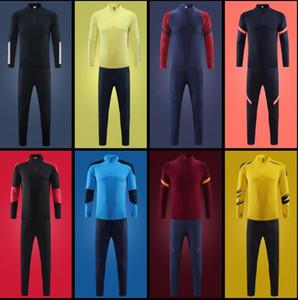 New Men's Marsiglia Adulto Maillot de Foot 20-21 Lyon Tracksuit TuteSutsuits Survedement Jogging Training Suit Kit equipe S-XXL