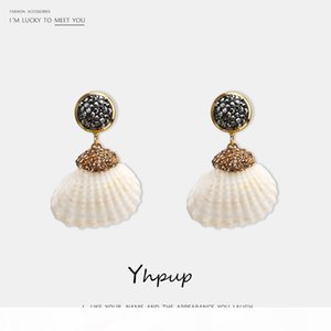 Fashion- Trendy Simple Design Natural Shell Dangle E Crystal Earrings Girl Beach Jewelry boucle femme 2020 beautiful
