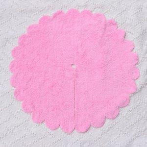 Mat Юбка Base Xmas Foot Ковер Праздничная Рождественская елка Фартук для декора (розовый) OK8B