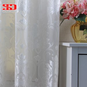 European Luxury Yarn Curtains Tulle For The Living Room Bedroom Ready Made Curtain For The Window Treatments Single Panel LJ201224