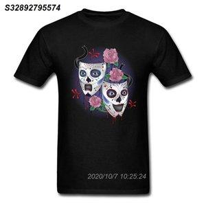 Sorriso Ora Cry Shirt T tardi per l'uomo nero maglietta Mask Tshirt Stampa Nessuna Fade vestiti del tessuto di cotone Tops Hipster Tee Design unico 31.191.010