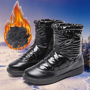 Outdoor Sport Sneakers Female Casual Footwear Waterproof Winter Warm Women Ankle Boots Round Toe Flat Ladies Walking Snow Shoes