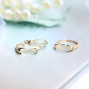 S925 silver charm designer ring with nature stone in 18k gold plated for women night club wedding jewelry gift PS8894