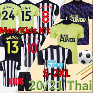 2020 2021 Üzerinde Tyne Magpies Yeni Futbol Formaları Wilson Shelvey Lascelles Ritchie Utd Futbol Gömlek Erkekler Kids Kiti Üniformaları
