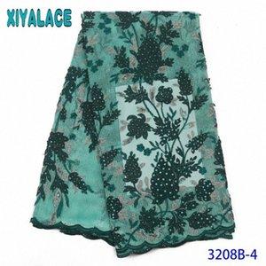 Französisch Nigerian Pailletten Net Tüll Mesh-heißen Verkauf-Spitze-Gewebe-Sequence Fabrics Latsch Für Hochzeit Kleider KS3208B Z0Je #