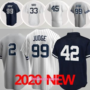 2020 maglie da baseball 99 giudiceYankees 2 Jeter 45 Cole 33Bird Jerseys 27 Stanton 3 Ruth 7 Mantle Men Jerseys personalizzato