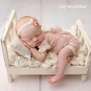 Newborn Photography Props Wood Bed Infant Poses Baby Photography Prop Detachable Background Props Baby Photography Accessories LJ201105
